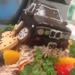 立体3Dケーキ車